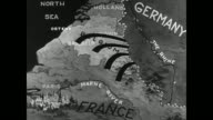 MAP Map of Belgium w/ animation of German forces invading World War I