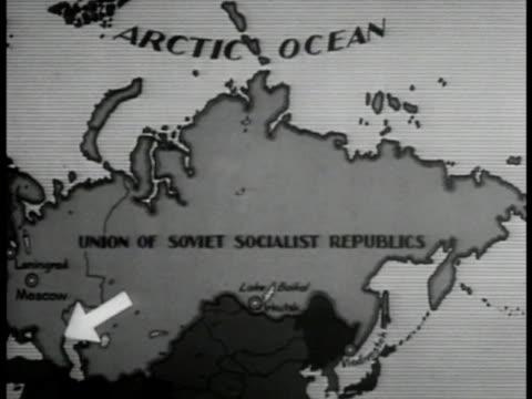 USSR map w/ arrow to CAUCASUS