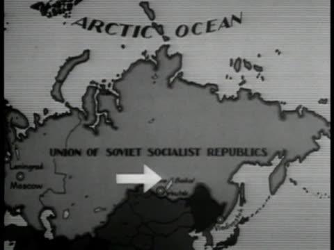 USSR map w/ arrow to SIBERIA