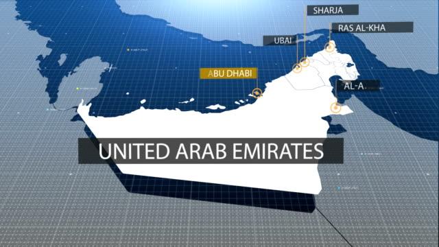 UAE karta med etiketten sedan med ut etikett