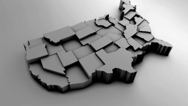 Kaart van de V.S. met Staten