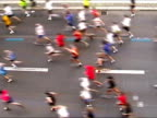 Marathon-Läufer zurück oder weiter