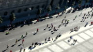 Marathon with Tilt Shift Effect