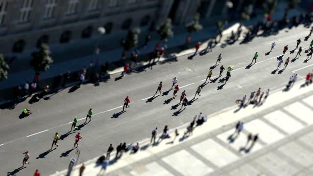 Marathon with Tilt Shift Effect