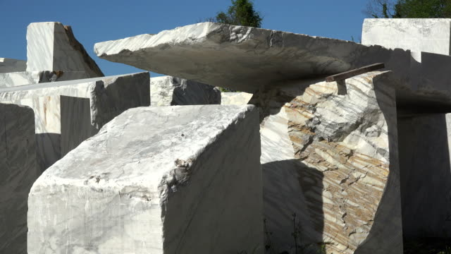 marble industry, Fantiscritti quarry near Carrara, Apuan Alps, Tuscany, Italy