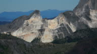 marble quarries near Colonnata, Apuan Alps, Tuscany, Italy