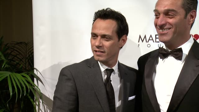 Marc Anthony Carlos Slim Domit and Henry Cardenas at Maestro Cares First Annual Gala Dinner New York at Cipriani Wall Street on February 18 2014 in...