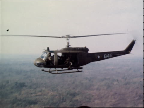 March 13 1971 TS VNAF gunship flying at Tan Son Nhut Air Base / Saigon Vietnam