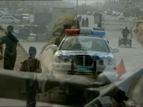 March 2007 MONTAGE DISSOLVE British troops on patrol in Basra/ Basra Iraq/ AUDIO