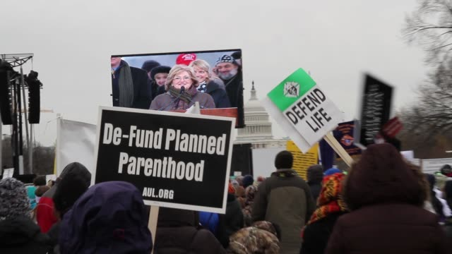 March for Life AntiAbortion Rally at National Mall on January 25 2013 in Washington DC