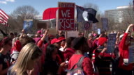 KDVR March on Colorado held a silent march on the State Capitol at noon on March 8 2017 for the 'Day Without a Woman' protest in honor of...