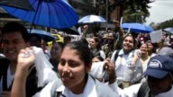 A march was organized in Bogota on Friday to demand the end of the 50 year civil war between the Colombian government and the FARC as peace talks...