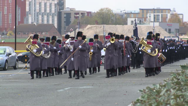 Marching band at Hendon Police College on October 27 2017 in London England
