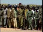 Marching protestors undertake political rally Democratic Republic of Congo