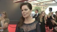 INTERVIEW Marcia Gay Harden on getting ready for tonight On her week with her daughters On seeing her daughter meeting Aidan Turner on how excited...