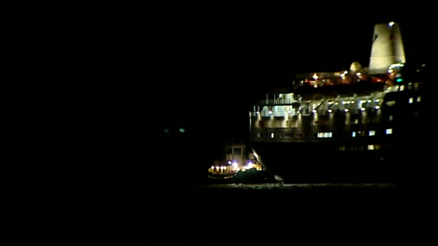 Marco Polo cruise ship returns to port ENGLAND Essex Tilbury Marco Polo cruise ship sails into port