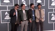 Marcus Mumford Ben Lovett Winston Marshall and Ted Dwane at The 55th Annual GRAMMY Awards Arrivals in Los Angeles CA on 2/10/13