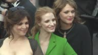Maren Ade Jessica Chastain Agnes Jaoui at 'The Meyerowitz Stories' Red Carpet on May 21 2017 in Cannes France