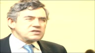 Margaret Beckett tricked by impressionist phone call FILE / R26010704 Davos INT Gordon Brown MP at World Economic Forum TO