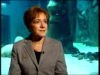 Margaret Hodge MP interview SOT He's talking about freezing fares massively increasing rail transport bringing conductors back on buses/ when he...