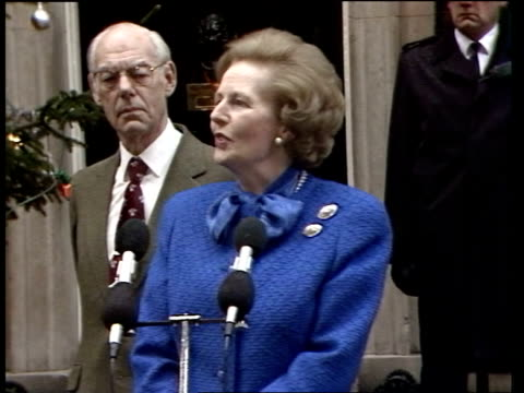 Margaret Thatcher becomes longest serving PM this century ITN London 10 Downing St SOF PULL OUT / 'I have no idea new ideas'