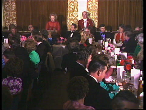 Margaret Thatcher Conservative Party leader gives speech at constituency dinner joking about her nickname of 'Iron Lady' London 31 Jan 76