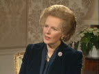 Margaret Thatcher expresses sympathy for the miners and their families caught up in the miners strike