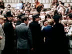 Margaret Thatcher greets the crowds at Downing Street after being elected as the new Prime Minister 04 May 1979