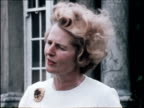 Margaret Thatcher Minister for Education explains her policy on school buildings and removal of free school milk 25 Jun 71