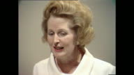 Margaret Thatcher states that she doesn't believe there will be a female UK prime minister in her lifetime