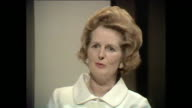 Margaret Thatcher talks about how she was brought up to be independent and take responsibility of her own actions and how she has never had any left...