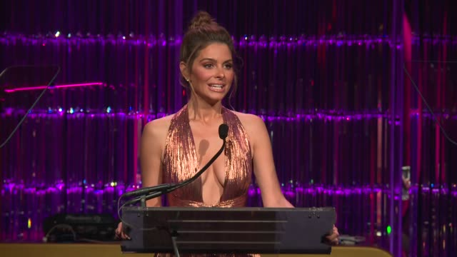 SPEECH Maria Menounos at Angel Ball 2017 at Cipriani Wall Street on October 23 2017 in New York City