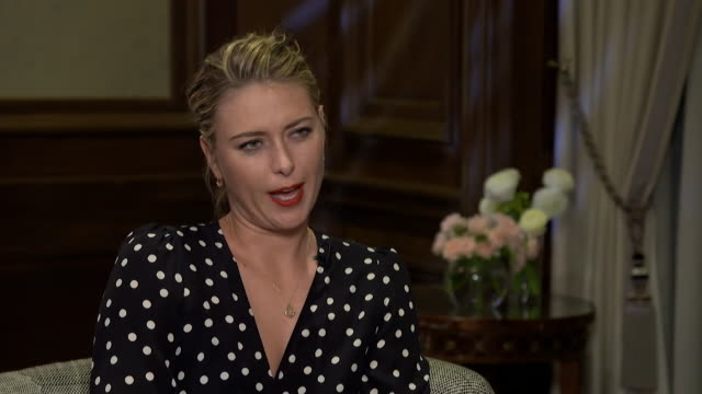 Maria Sharapova saying she disagrees with comments made by Andy Murray and other tennis players about her suspension because 'they don't have the...