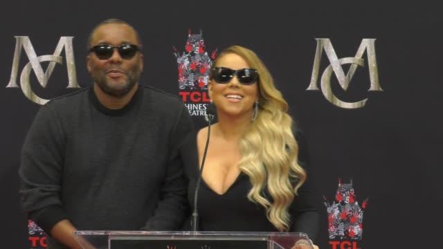 SPEECH Mariah Carey at the Mariah Carey Handprint Footprint Ceremony at TCL Chinese Theatre at TCL Chinese Theatre on November 01 2017 in Hollywood...