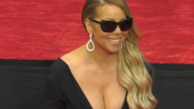 Mariah Carey at the Mariah Carey Handprint Footprint Ceremony at TCL Chinese Theatre at TCL Chinese Theatre on November 01 2017 in Hollywood...