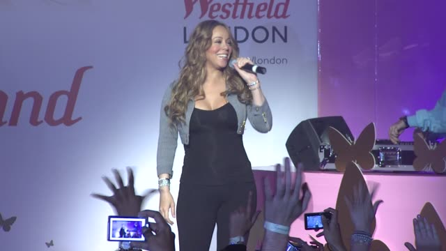 Mariah Carey at the Mariah Carey In London at London England