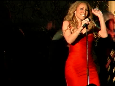 Mariah Carey performs 'We Belong Together' at the Mariah Carey Promotion of Her New Album 'The Emancipation of Mimi' at Rappongi Hills Arena in Tokyo...