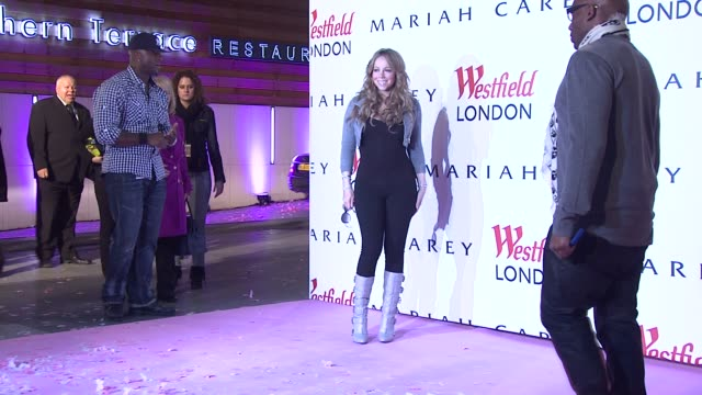Mariah Carey Trevor Nelson at the Mariah Carey In London at London England