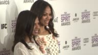 Mariel Saldana and Zoe Saldana at the 2012 Film Independent Spirit Awards Arrivals on 2/25/12 in Santa Monica CA United States