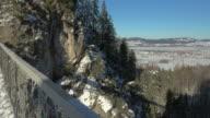 Marienbruecke Bridge and Neuschwanstein Castle near Schwangau, Svabia, Bavaria, Germany