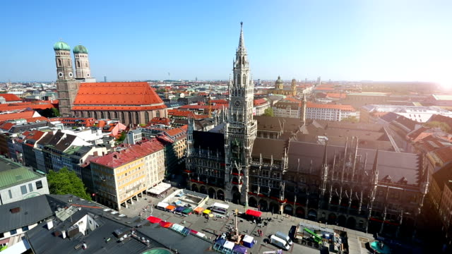 Marienplatz in Munich, Time Lapse