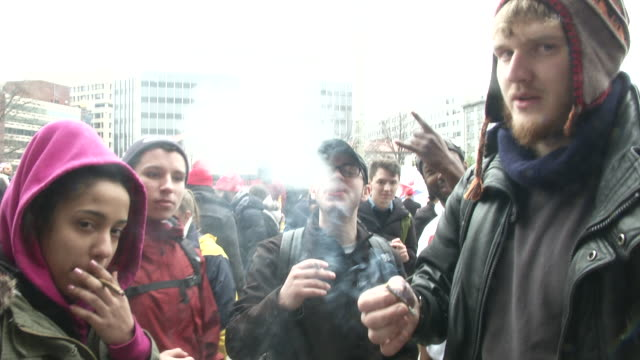 A marijuana legalization advocacy group handed out between 4000 and 8000 joints at a promarijuana protest in Dupont Circle hours before the events of...
