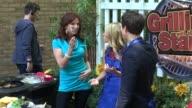 Marilu Henner Kelly Ripa and Andy Samberg at the 'LIVE with Kelly' show studio Marilu Henner Kelly Ripa and Andy Samberg at the on June 07 2012 in...