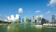 Skyline di Singapore Marina Bay,.