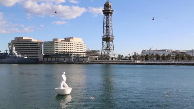 Marina Port Vell, view of the harbor, Barcelona, Spain.