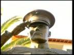 US marine battalion accused of Haditha massacre detained Close shot and side view of statue of saluting marine outside Camp Pendleton Marine Base