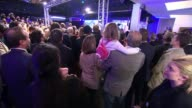 Marine Le Pen vows to rename and rebrand Front National Vincennes Various shots Front National supporters watching election results and booing SOT...