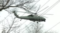 WGN Marine One UH60 Black Hawk Flies Overhead in Wisconsin before President Donald Trump landed and signed an executive orderdirecting federal...
