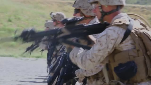 Marines with Bravo Company 7th Engineer Support Battalion 1st Marine Logistics Groups train in the Combat Rifle Program aboard Camp Pendleton Calif...