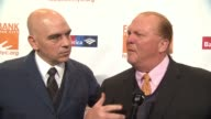 INTERVIEW Mario Batali Michael Symon discuss hunger issues in NY at Food Bank For New York City CanDo Awards Dinner 2017 at Cipriani Wall Street on...